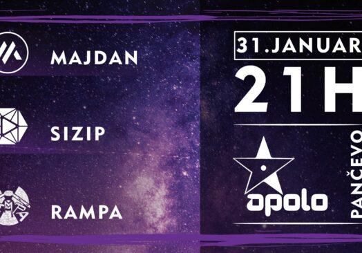 Велики концерт бендова РАМПА, Мајдан и Сизип